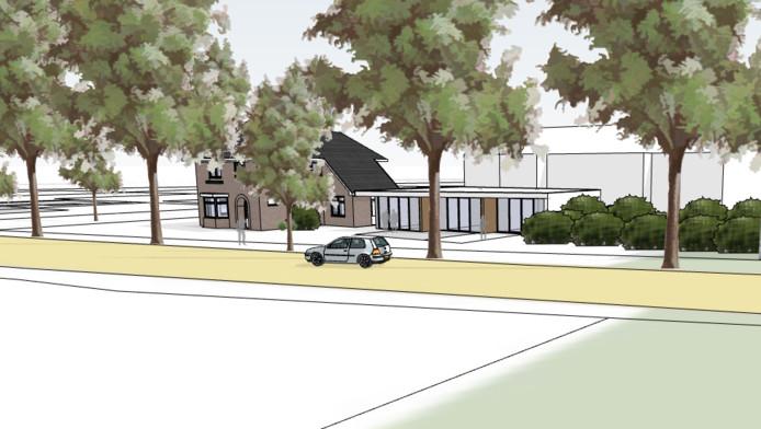 Een artist impression van hoe het nieuwe onderkomen voor het hospice aan de Quickbornlaan 13 in Epe eruit moet komen te zien.