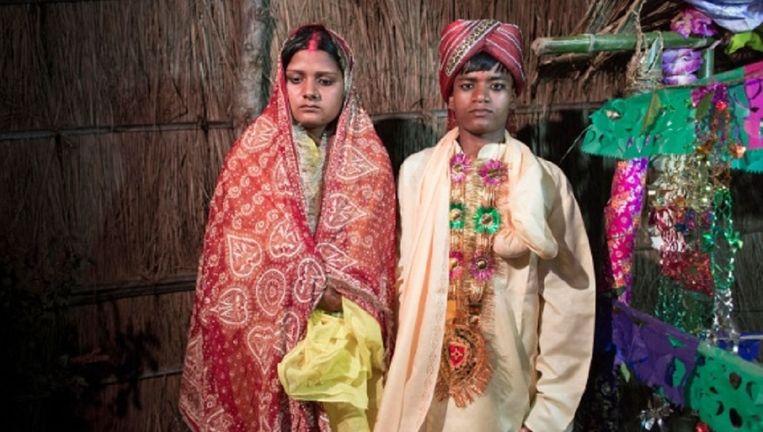 Lieve Blancquaert neemt kindhuwelijken in Nepal onder de loop in de serie Wedding Day. Beeld Lieve Blancquaert