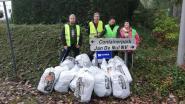 'Zelzate Clean' haalt vijftien volle vuilniszakken zwerfvuil uit bermen rond recyclagepark