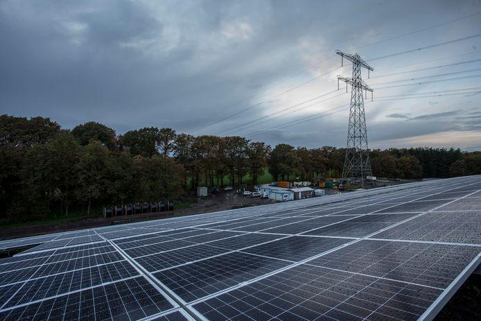Zonnepark de Armhoede, het eerste grote zonnepark in Lochem. Eveneens een project van TPSolar.