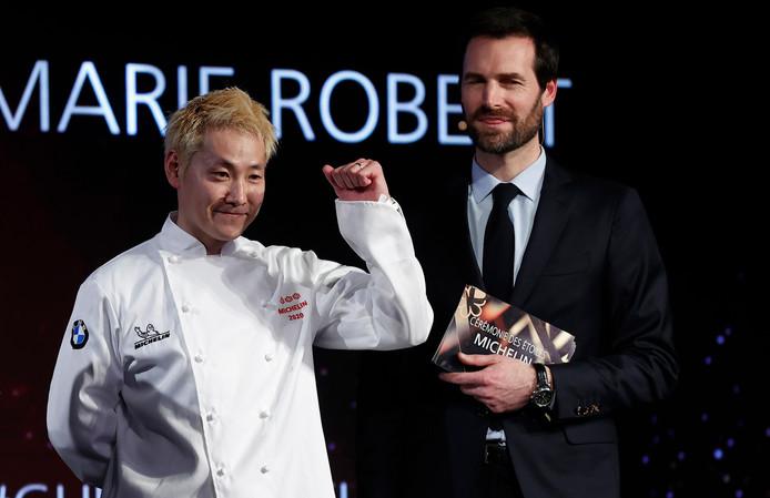 Chef Kei Kobayashi is blij met zijn derde Michelinster.