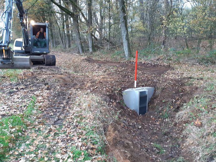 Waterschap plaats een stuw die boeren zelf kunnen bedienen bij de Maashorst
