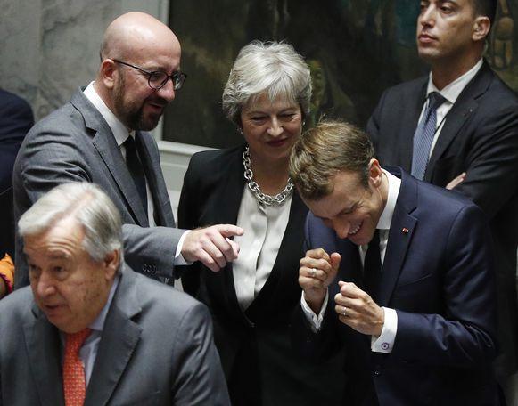 Meer of minder Europa? Daarover lopen de meningen bij de politieke partijen uiteen. Onze premier Charles Michel, de Britse premier Theresa May en Frans president Emmanuel Macron lijken het alvast wel eens