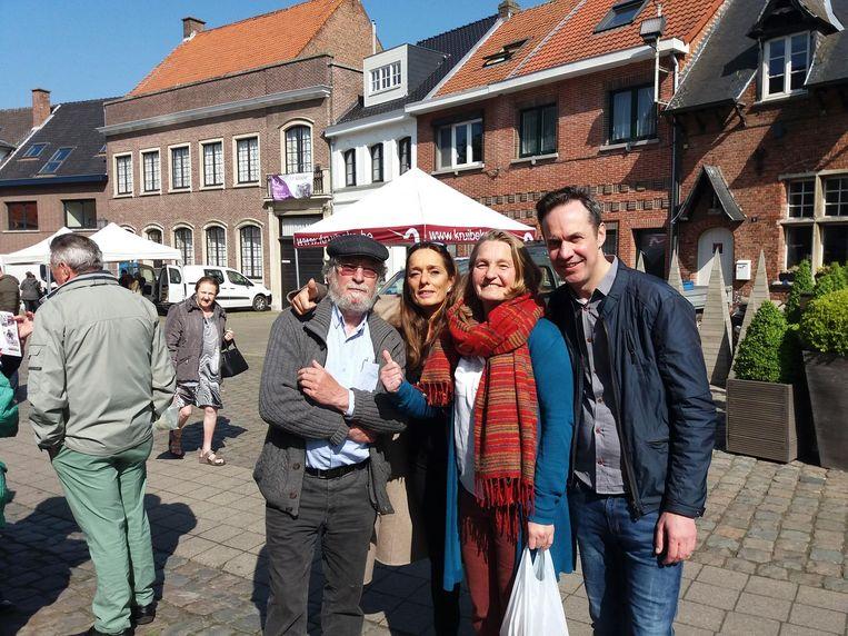 Initiatiefnemers Toon Pauwels, Gina Miurin, Chantal Maas en Geert Magerman.