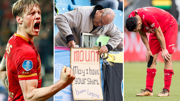 Wout Weghorst (AZ), een Arnhemse fan van Mason Mount en teleurstelling bij Oussama Assaidi (FC Twente).