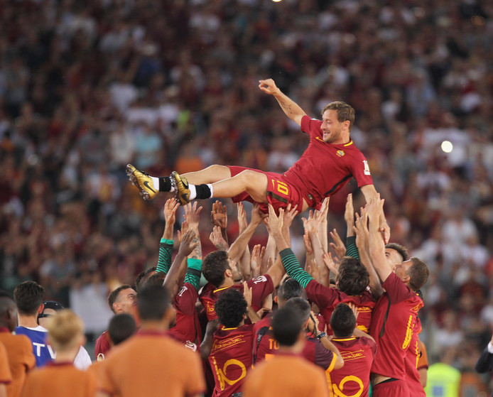 28 mei 2017: Francesco Totti heeft zijn laatste duel gespeeld bij AS Roma.