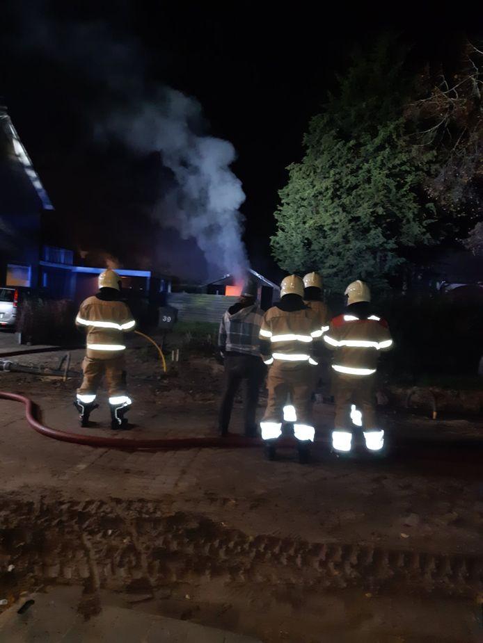 Uitslaande schuurbrand in Erp.
