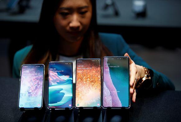 De andere vlaggenschepen van Samsung: de Samsung Galaxy S10e, S10, S10+ en S10 5G.