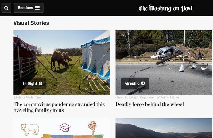 De website van The Washington Poat.