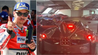 Drievoudig wereldkampioen MotoGP Jorge Lorenzo pronkt met zeldzame wagen van 3,2 (!) miljoen euro