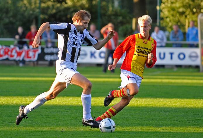 Sjoerd Jens (l) en Marc Hoekstra maakten de hoogtijdagen bij respectievelijk WSV en CSV Apeldoorn mee.
