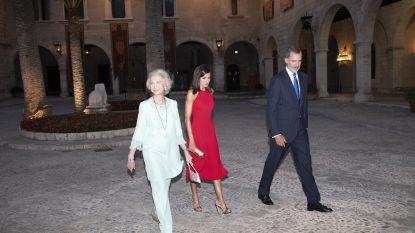 De Spaanse royals laten elkaar links liggen op vakantie
