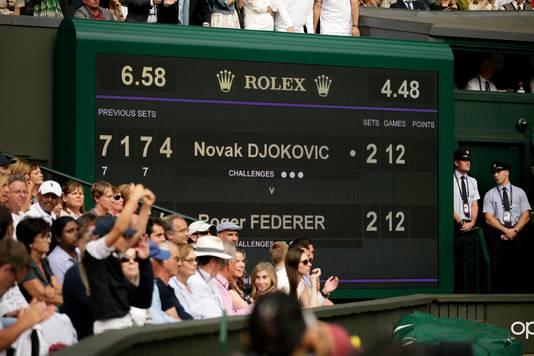 Deze finale evenaart die van de langste ooit, het legendarische duel tussen Nadal en Federer in 2008.