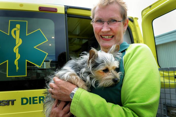 Een vrijwilligster haalde zes jaar terug een verdwaald hondje op.
