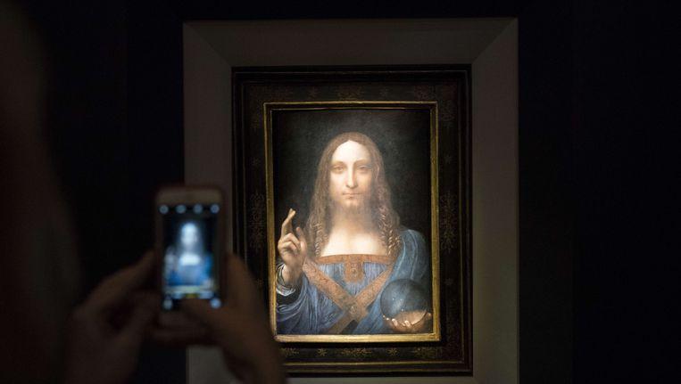 Salvator Mundi van Leonardo da Vinci. Beeld afp
