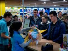 Ook Intertoys Eindhoven extreem   druk bij inwisselen cadeaubonnen