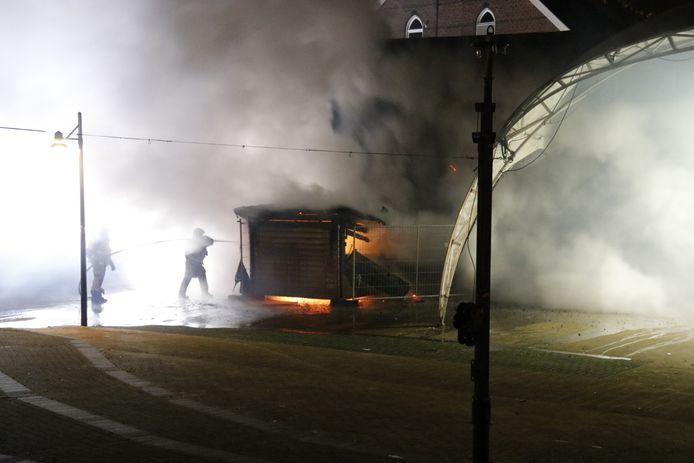 Veel rookontwikkeling bij de brand.