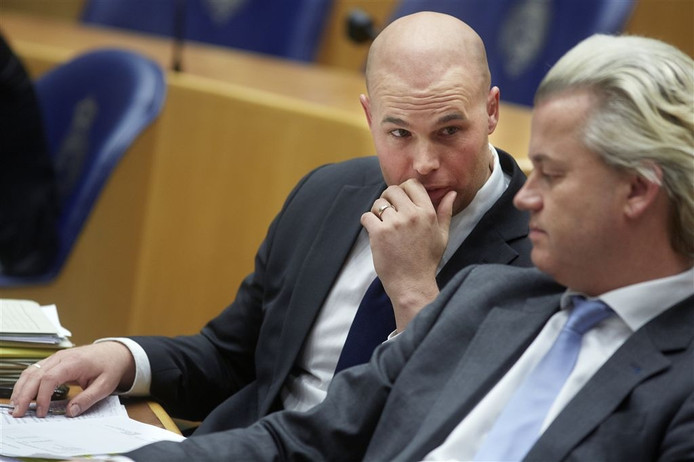 Joram van Klaveren and Geert Wilders as Dutch Islamophobic MPs, ANP photo