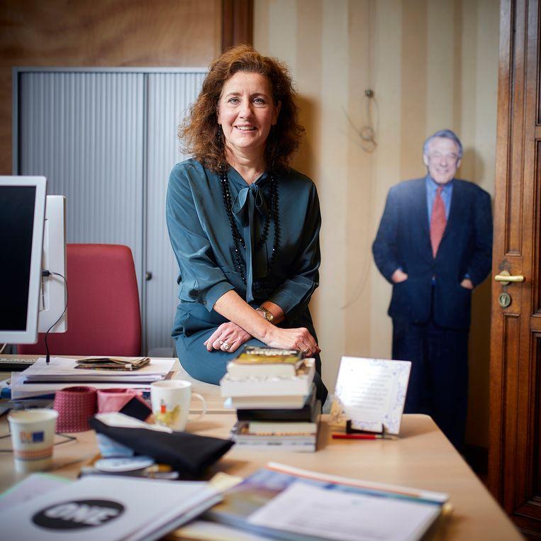 Ingrid van Engelshoven: 'Ik ga niet op training om het 'uh' af te leren'. Beeld Phil Nijhuis