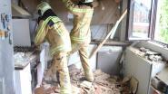 Dak van keuken ingestort door zware regenval