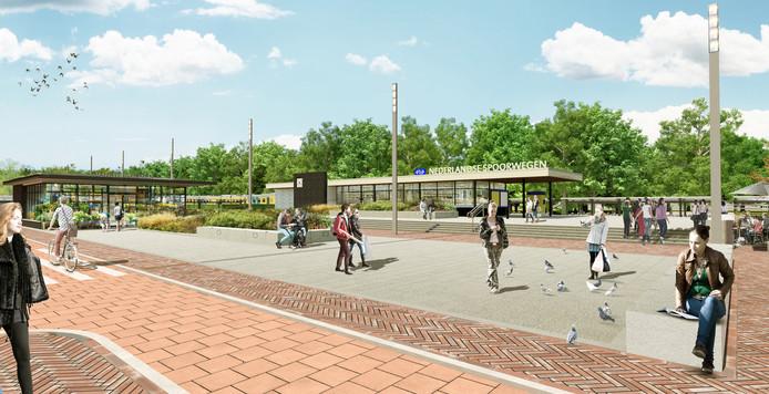 Het toekomstige front van NS-station Etten-Leur.