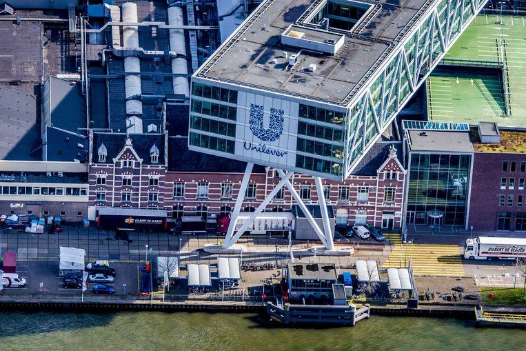 Hoofdkantoor van Unilever in Rotterdam  Beeld -