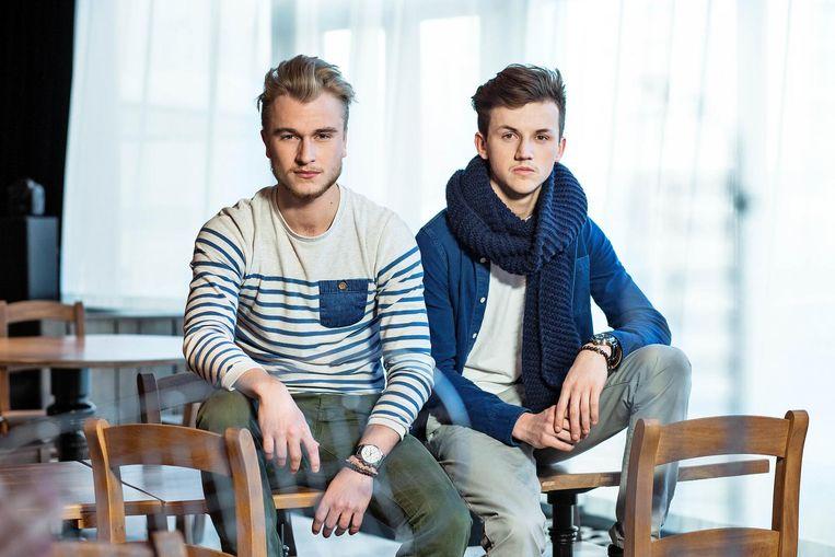 Gilles en Michael tijdens de opnames van 'Mijn Pop-up!' op VTM in 2015. Geen onverdeeld succes.