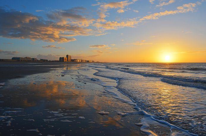 Coucher de soleil sur Ostende.