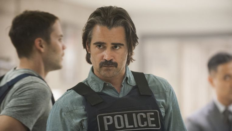 Colin Farrell in True Detectives. Beeld null