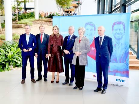 Koningin Máxima bezoekt Nlgroeit in Apeldoorn en geeft tips aan Gelderse ondernemers