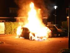 Twee auto's door brand verwoest aan Tiels plein