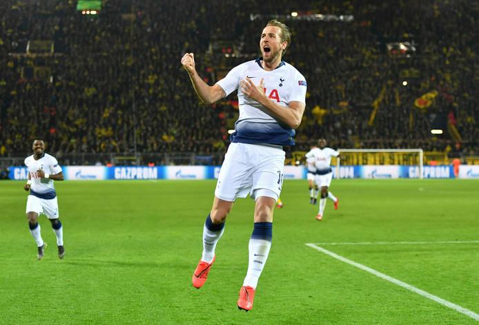 Harry Kane maakte het enige doelpunt in Dortmund.