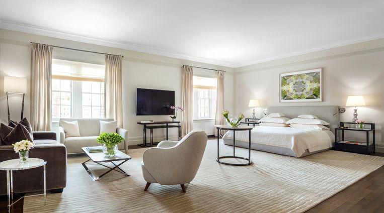 Ook deze master bedroom is erg ruim en heeft haar eigen zitkamer.