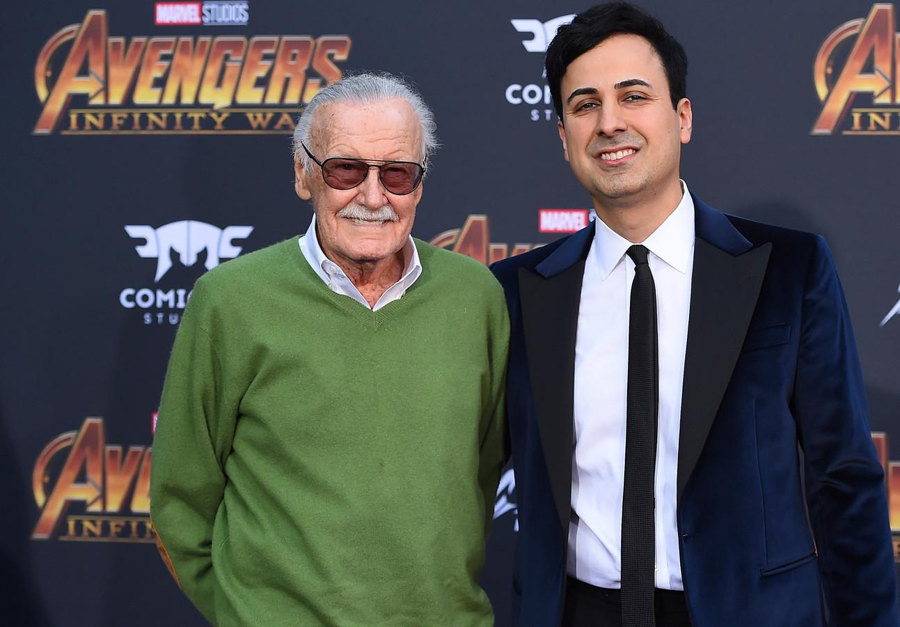 "Stan Lee et Keya Morgan, à la première mondiale de ""Avengers: Infinity War"""