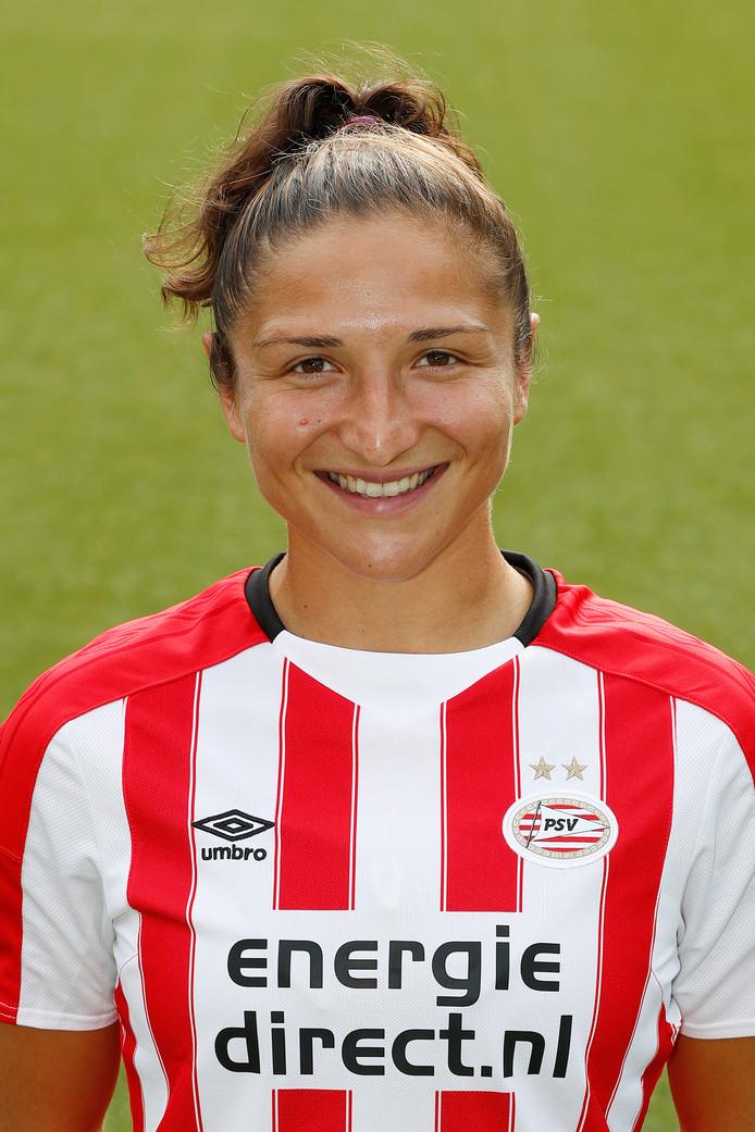 Sara Yüceil, Belgisch international PSV Vrouwen 2017-2018.