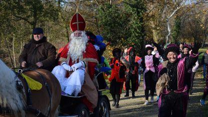 Pieten stelen show tijdens aankomst Sinterklaas
