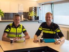 Politie Oldebroek eet een boterhammetje mee