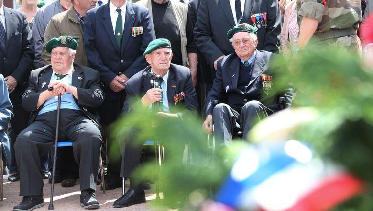 Veteranen in Ouistreham. Beeld anp