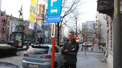 Boete wegens geen parkeerkaart ... op plek waar parkeerkaart niet moet