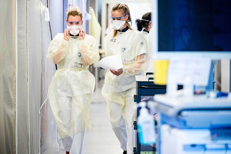 Verpleegkundigen van het Elisabeth TweeSteden Ziekenhuis  in Tilburg. Beeld ANP