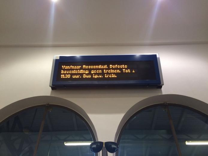 Geen treinverkeer rond station Roosendaal.