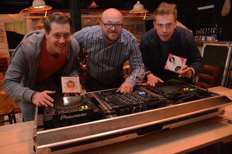 Nick Vinckier, Tim De Bree en Hans Soenen.