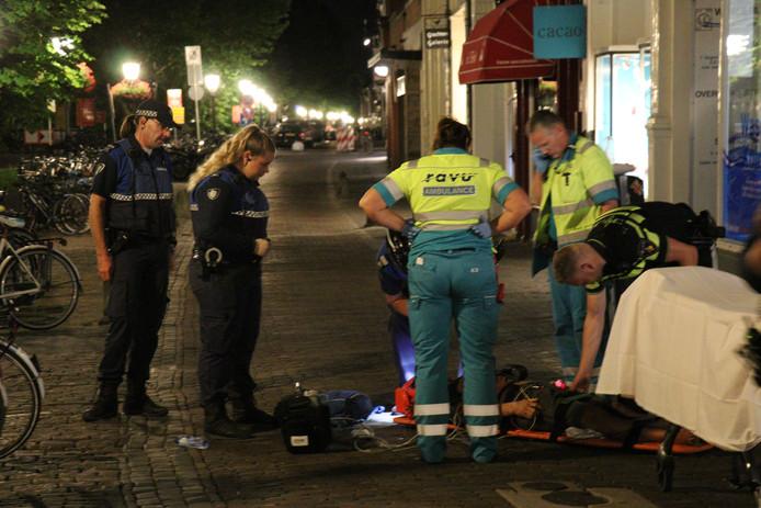 Trauma heli opgeroepen voor gevallen fietser in Binnenstad Utrecht