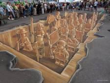 Deze straatkunst neemt een loopje met onze zintuigen