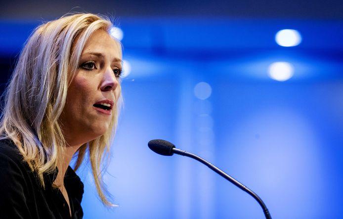 Fractievoorzitter Lilian Marijnissen (SP) tijdens de aftrap van het nieuwe parlementaire jaar door Stichting Machiavelli op de eerste Kamerdag.