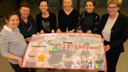 Monumentenloop brengt 3.873 euro op voor vzw Aalternatief