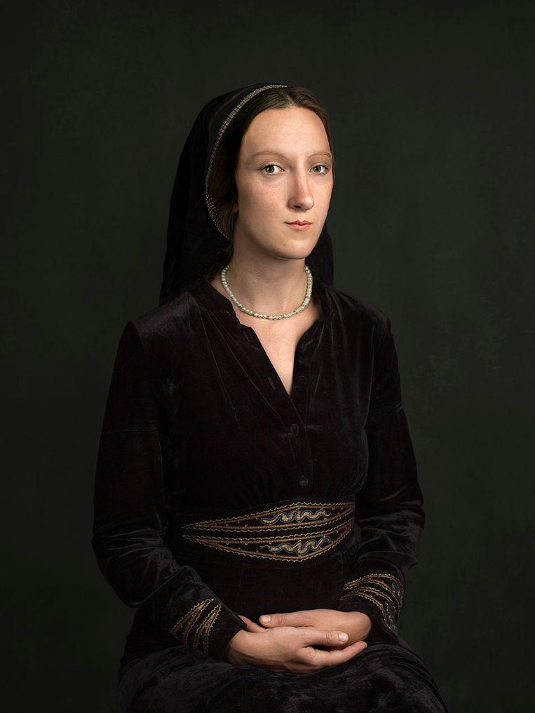 Anne Boleyn. Tweede en beroemdste vrouw van koning Henry VIII van Engeland. Moeder van koningin Elizabeth I. Onthoofd. Beeld Tessa Posthuma de Boer