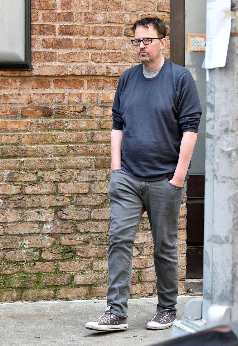 Matthew Perry werd deze week in New York gespot. Hij zag er volgens de Amerikaanse media uit als een verwaarloosde zwerver.