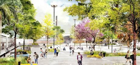 Oliemolenhof van kaal plein naar park