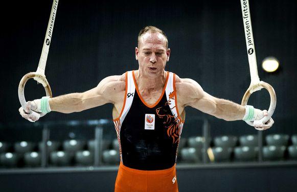Yuri van Gelder, vorig jaar tijdens het Nederlands Kampioenschap turnen in Rotterdam.